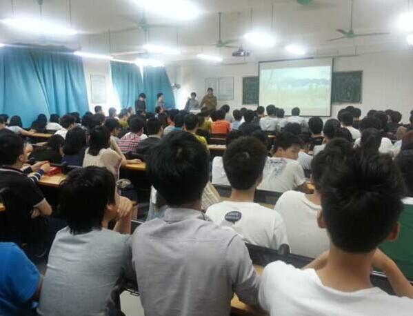 广州现代信息学院艺术设计系邀动漫公司校内宣讲